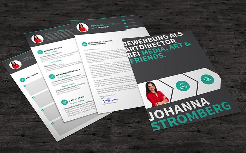 Bewerbungsvorlagen zum Download (InDesign & Word): Kreative Layouts für jede Branche