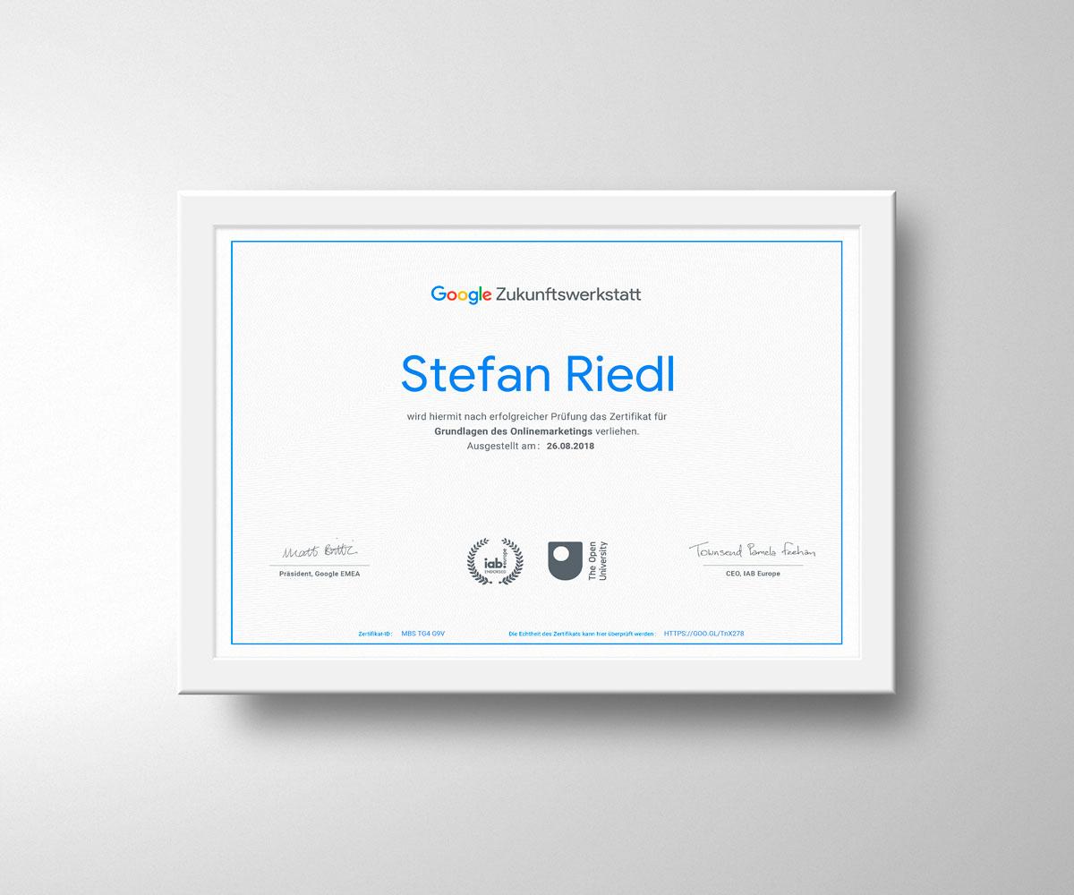 Von Google zertifiziert: Online-Marketing-Kurs erfolgreich abgeschlossen
